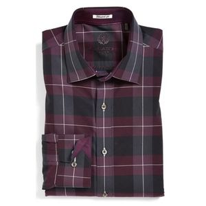Bugatchi Uomo Shaped Fit Sports Shirt Size M